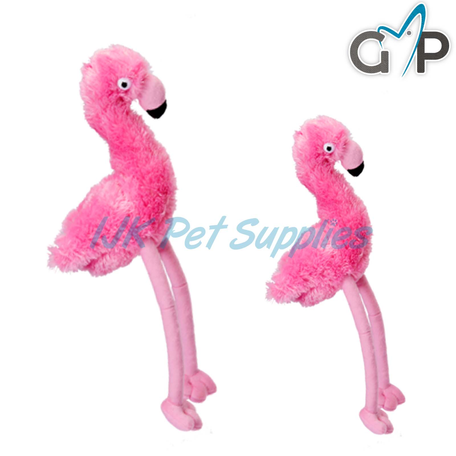 Details about Gor Pets Hugs Pink Flamingo Plush Comfort Cuddle Dog Puppy Crinkle Squeaky Toy